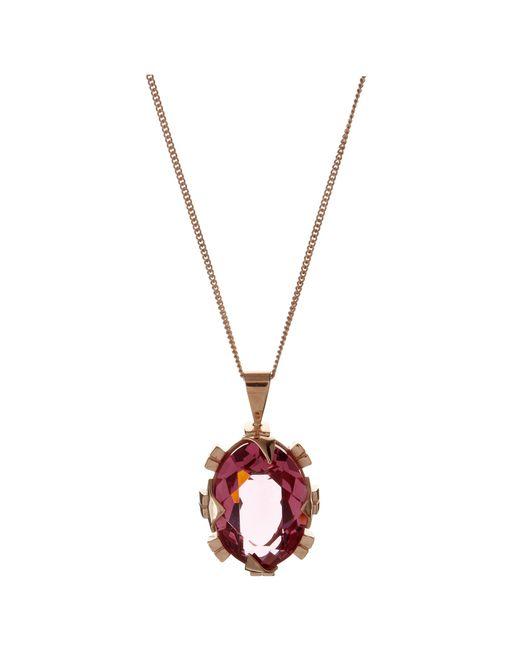 Cabinet | Pink Rose Gold Plated Swarovski Crystal Beetle Necklace | Lyst
