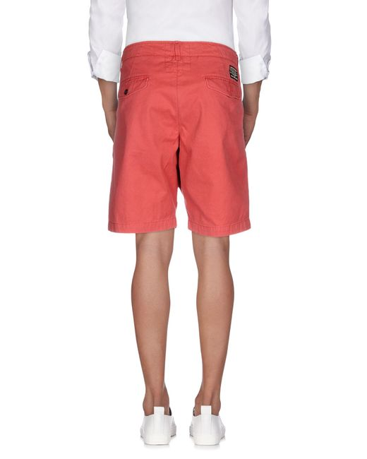 Replay | Red Bermuda Shorts for Men | Lyst
