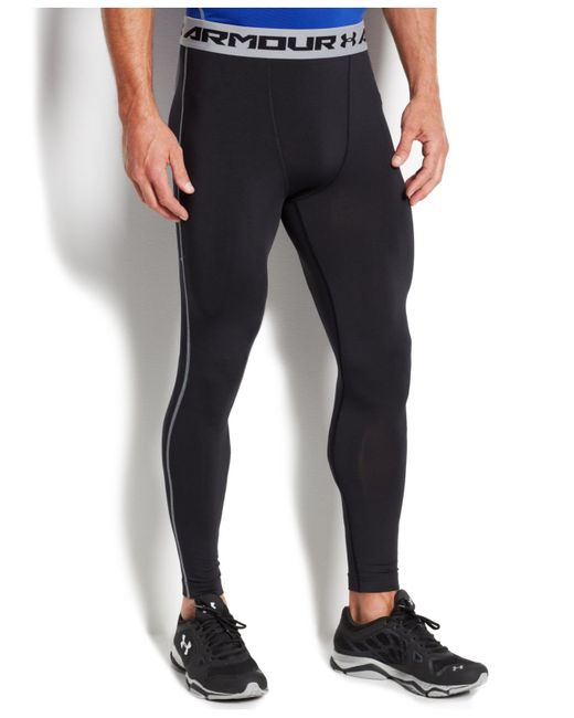 Under Armour | Black Heatgear Armour Compression Tights for Men | Lyst