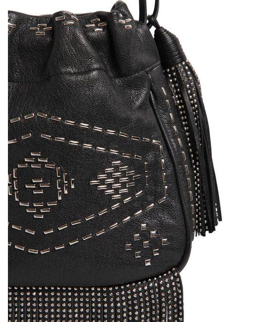 Yves Saint Laurent Helena Studded Leather Fringe Crossbody