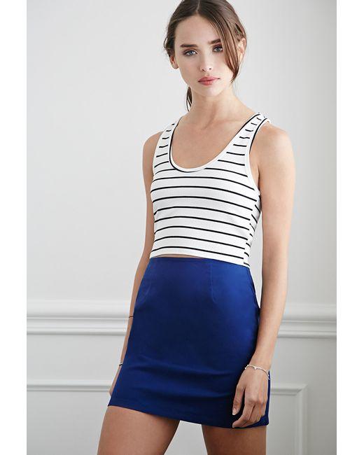 Forever 21 | Blue Classic Mini Skirt | Lyst