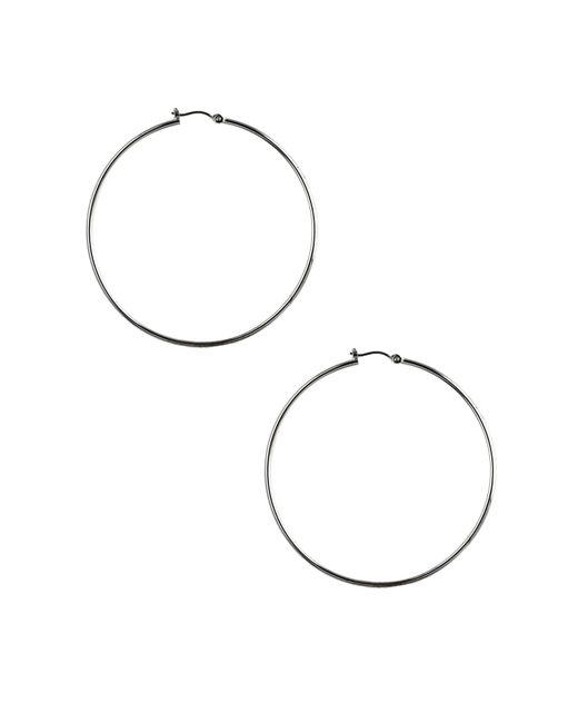 Nine West | Gray Classic Silver Hoop Earrings | Lyst