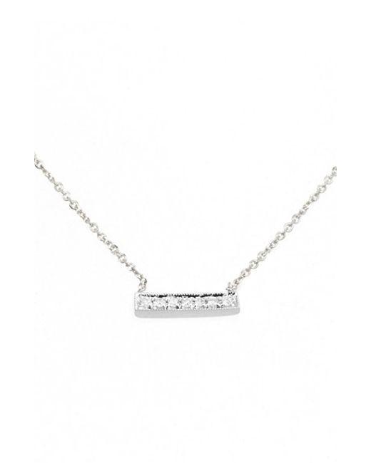 Dana Rebecca | White 'sylvie Rose' Diamond Bar Pendant Necklace | Lyst
