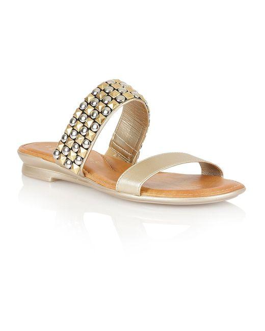 Lotus | Metallic Cosima Open Toe Sandals | Lyst