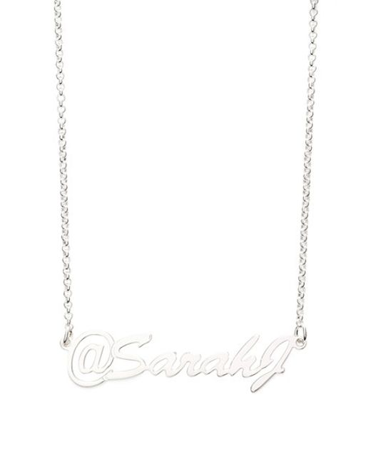 Argento Vivo | Metallic Personalized Name Pendant Necklace | Lyst