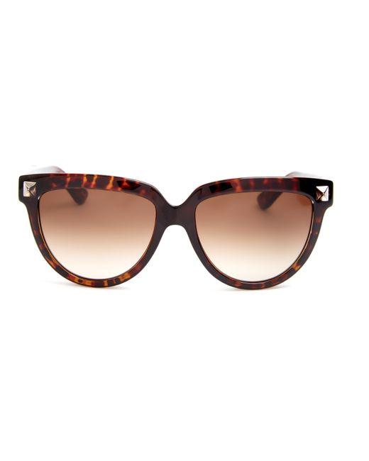 Valentino Rockstud Cat-eye Frame Sunglasses in Brown ...