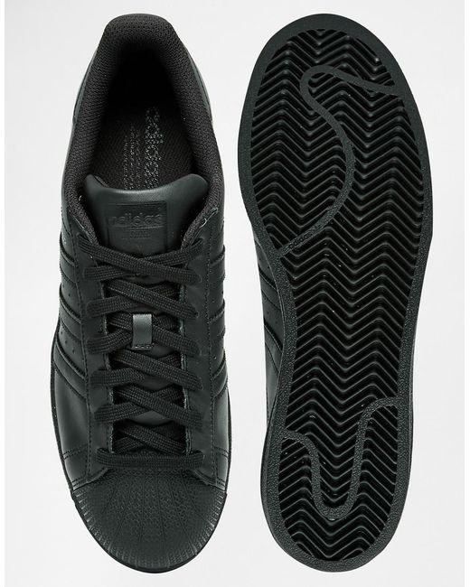 mdxlo Adidas originals Superstar Sneakers Af5666 - Black in Black for