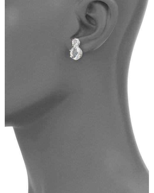 Ippolita   Metallic Rock Candy Clear Quartz & Sterling Silver Two-stone Post Earrings   Lyst