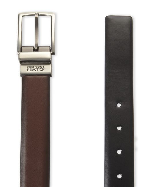 Kenneth Cole Reaction   Black & Brown Glossy Reversible Belt for Men   Lyst