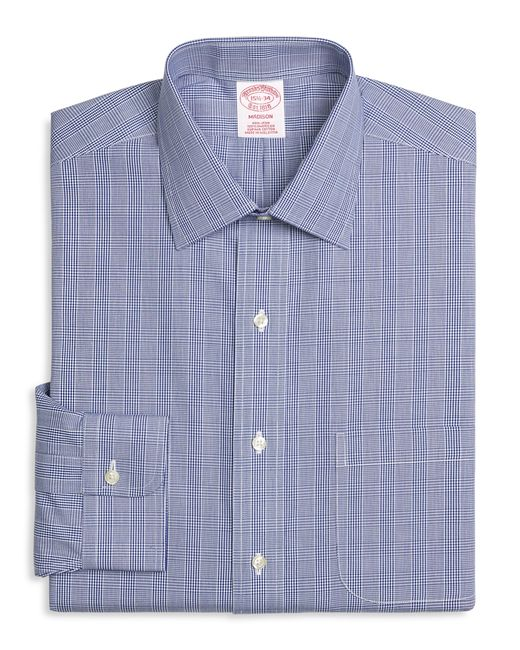 Brooks Brothers | Blue Non-iron Madison Fit Glen Plaid Dress Shirt for Men | Lyst