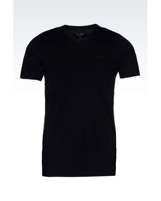 Armani Jeans   Black Print T-shirt for Men   Lyst