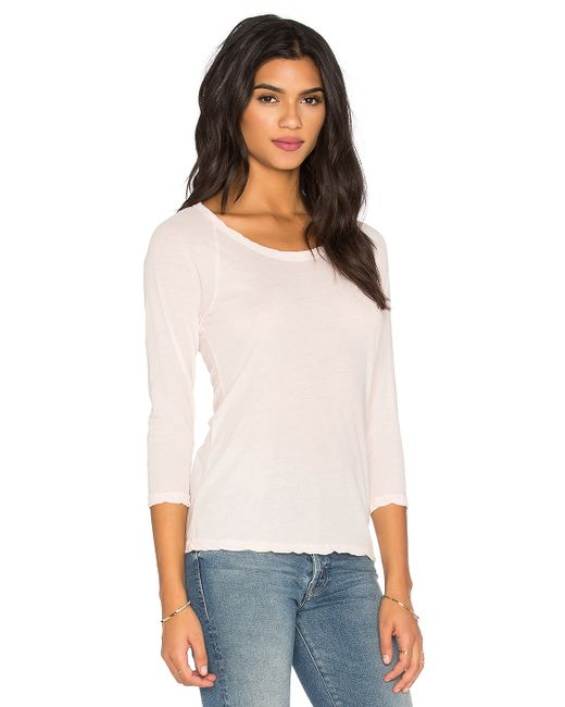 James perse classic raglan tee in white lyst for James perse t shirts sale