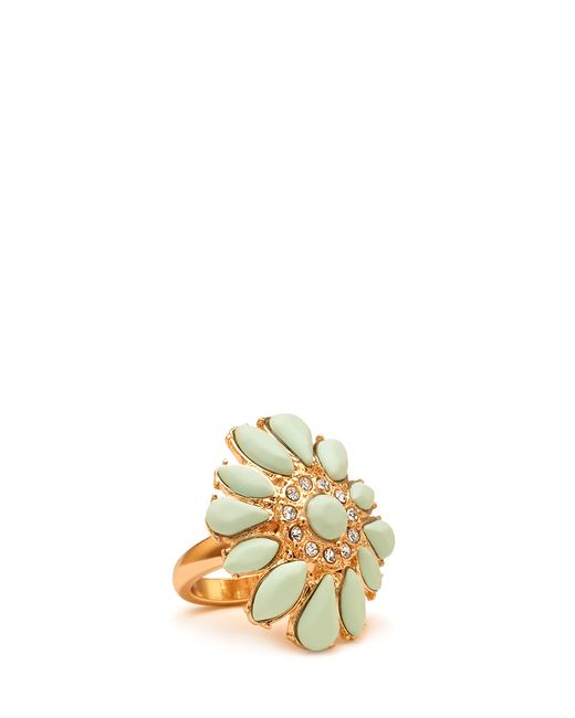 Forever 21 Green Fresh Faux Stone Cocktail Ring