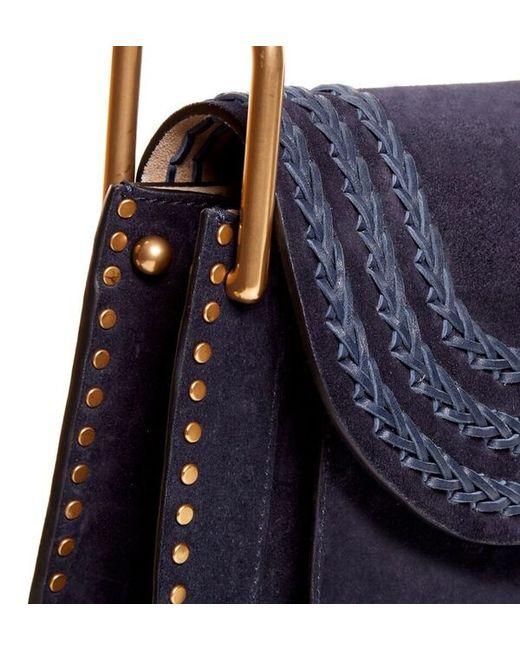cheap chloe handbags uk - Chlo�� Hudson Small Suede Shoulder Bag in Blue | Lyst