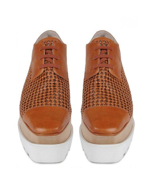 stella mccartney elyse shoe in wicker in brown lyst