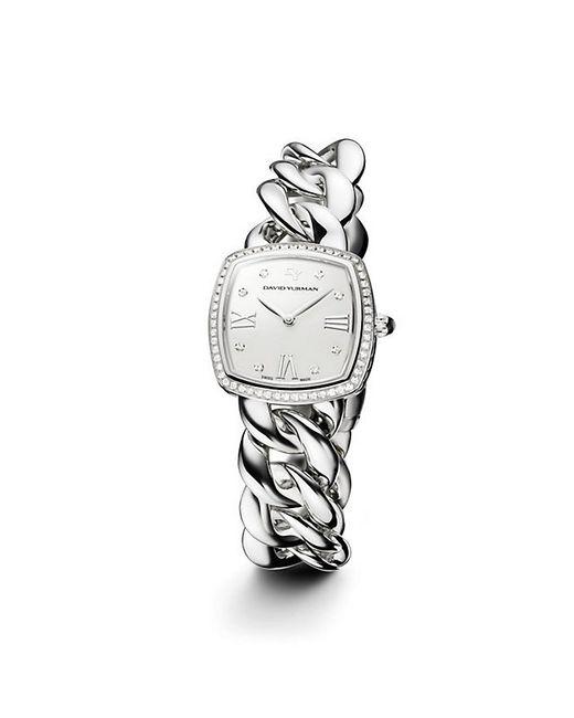 David Yurman | Metallic Albion 27mm Stainless Steel Quartz Watch With Diamonds | Lyst
