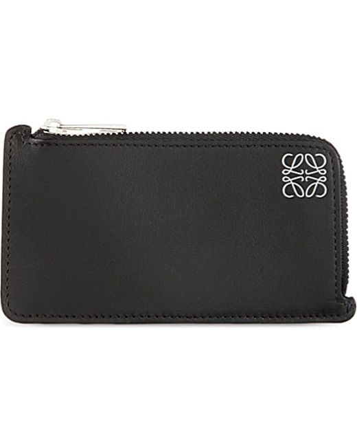 Loewe | Black Logo-embossed Leather Coin And Card Holder | Lyst