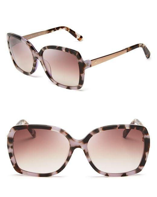 Kate Spade | Purple Darilynn Oversized Sunglasses, 58mm | Lyst