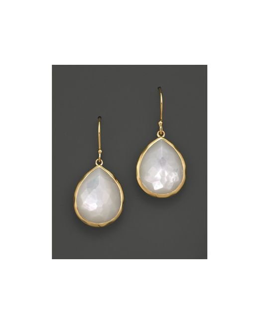 Ippolita | Metallic 18k Gold Rock Candy® Teardrop Earrings In Mother-of-pearl | Lyst