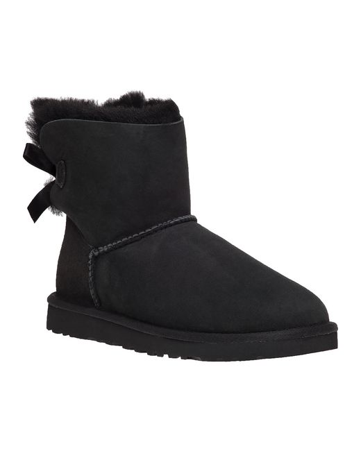 Ugg | Black Shaina Classic Knit Boots | Lyst