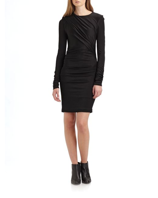 T By Alexander Wang | Black Muscle Jersey Maxi Dress | Lyst