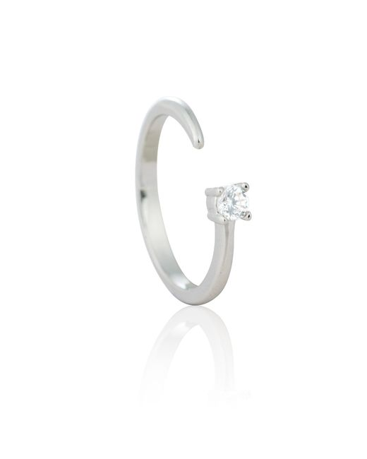Astrid & Miyu | Metallic Chase Me Diamante Ring In Silver | Lyst