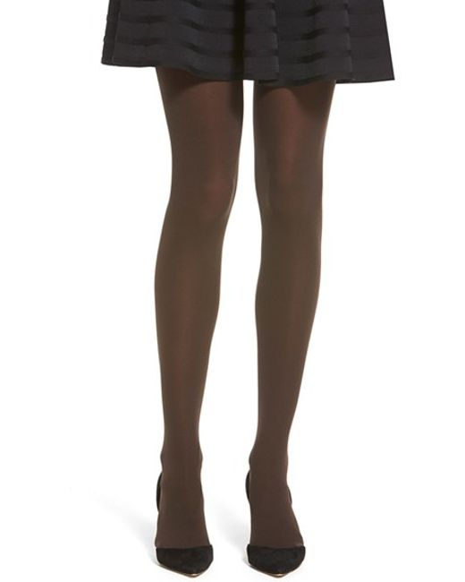 Hue   Brown 'ultra 70d' Opaque Seamless Tights   Lyst