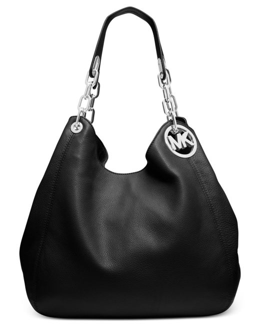 Michael Kors | Black Fulton Large Leather Tote | Lyst