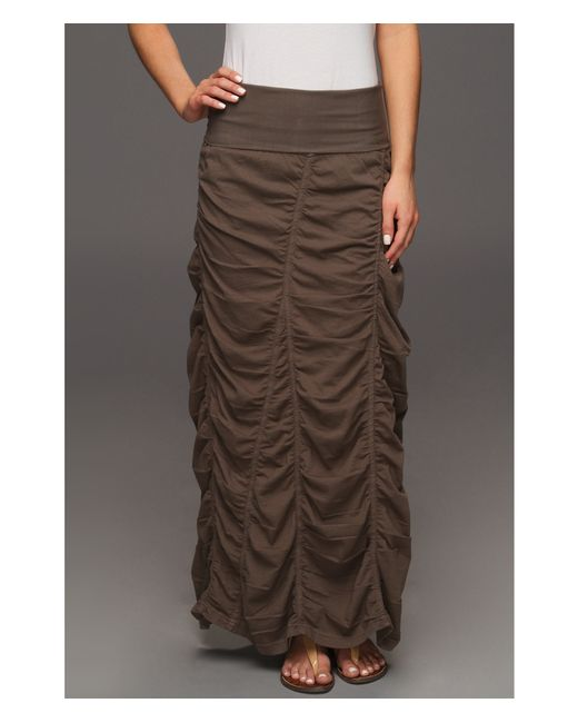 XCVI | Green Jersey Peasant Skirt | Lyst