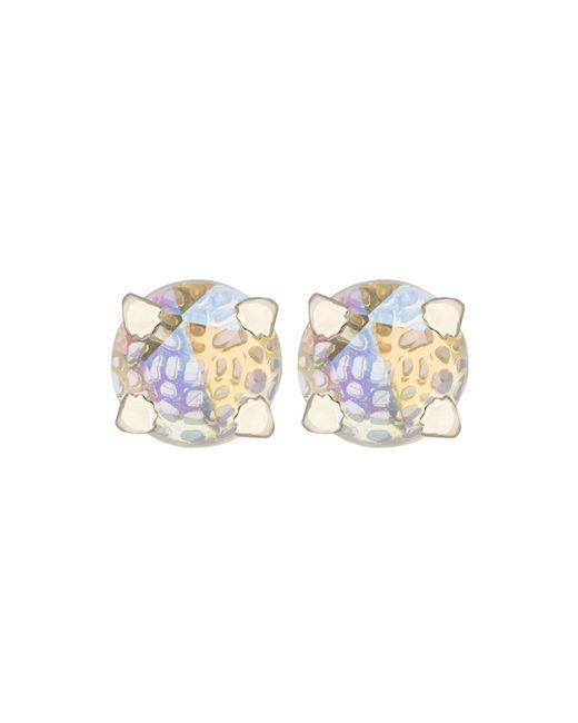 Kendra Scott Purple Hillary Button Earrings