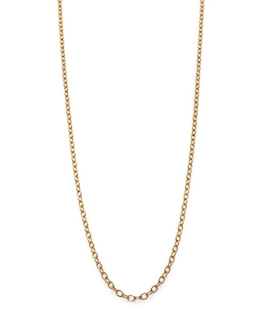 Temple St. Clair | Metallic 18k Yellow Gold Extra-small Oval Link Necklace Chain/18 | Lyst