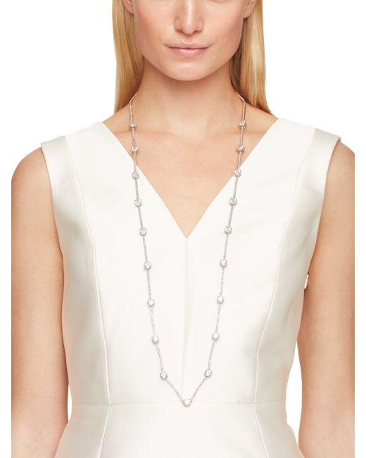 Kate Spade | Metallic Clink Of Ice Scatter Necklace | Lyst