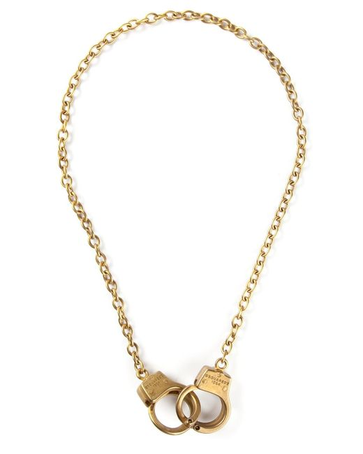 DSquared² | Metallic Handcuffs Necklace for Men | Lyst
