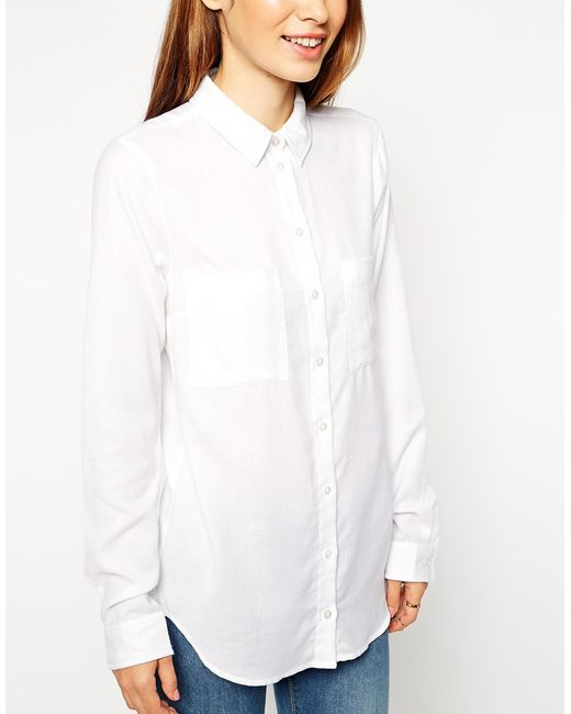 ASOS | White Soft Casual Shirt | Lyst