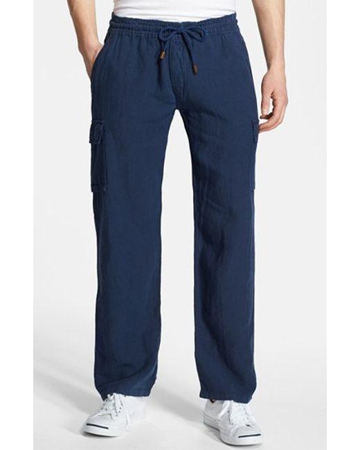 Vilebrequin | White Linen Cargo Pants for Men | Lyst