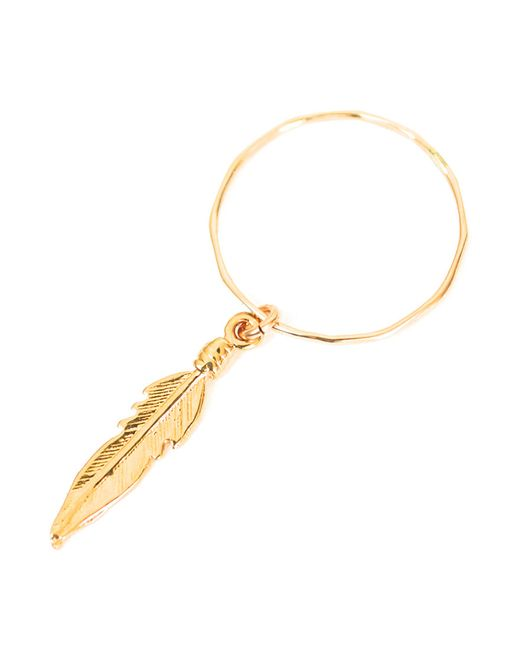 Forever 21 | Metallic Amarilo Feather Dangle Ring | Lyst