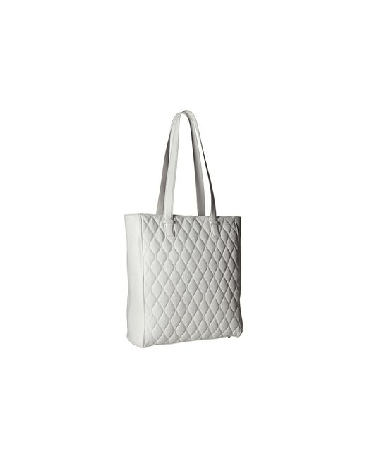 Vera Bradley Quilted Leah Tote In Gray White Lyst