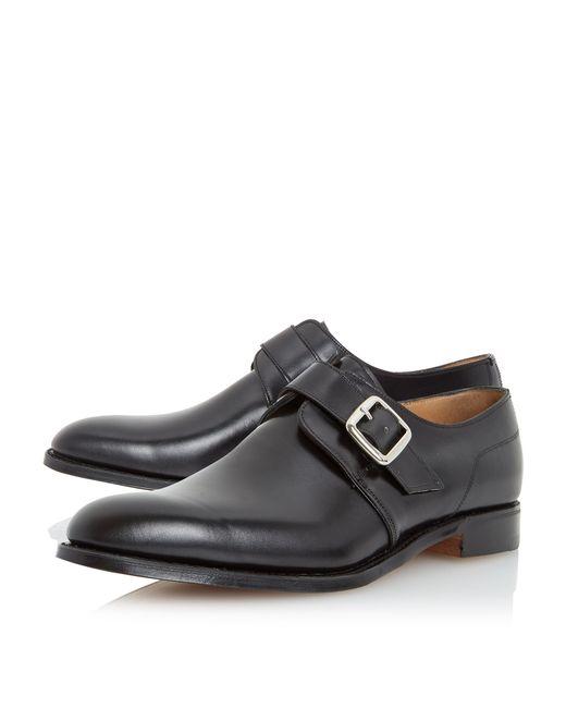 Single Monk Strap Shoes Black