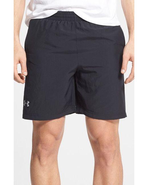 Under Armour | Black 'launch' Heatgear Woven Running Shorts for Men | Lyst