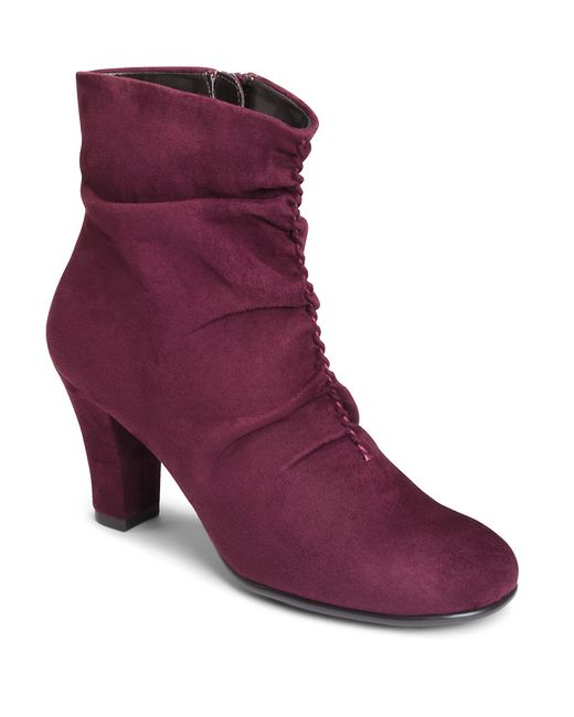 Aerosoles | Purple Good Role Faux Suede Boots | Lyst