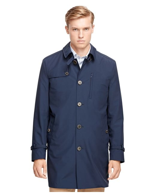 Brooks Brothers Sport Trench Coat In Blue For Men Lyst