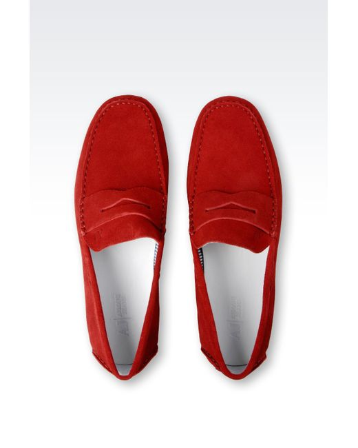 Armani Jeans | Red Loafer for Men | Lyst