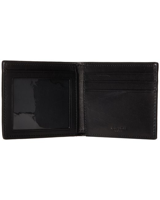 COACH | Black Sport Calf Slim Billfold Id Wallet for Men | Lyst