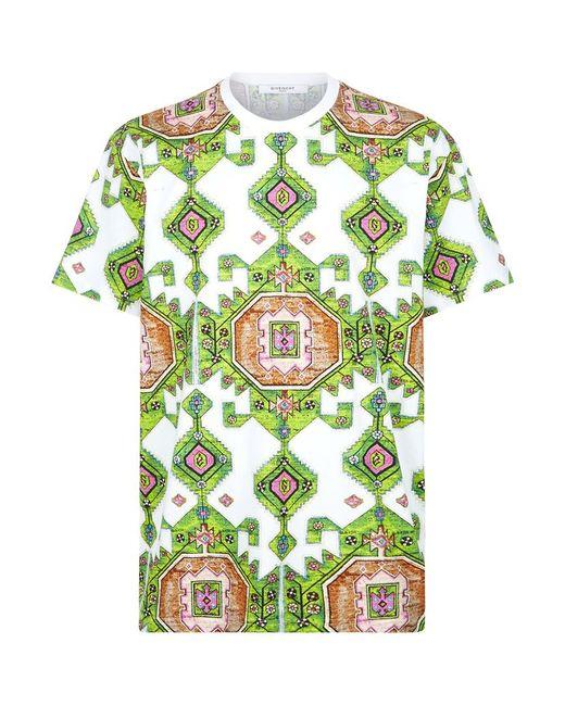 Givenchy persian print t shirt in green for men save 30 for Vista print tee shirt