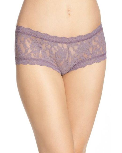 Hanky Panky   Purple 'signature Lace' Boyshorts   Lyst