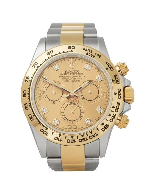 Rolex Yellow Daytona 0 116503 Men's Stainless Steel And Gold Watch for men