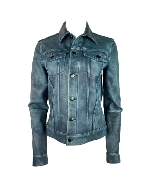 10 Crosby Derek Lam Blue Derek Lam 10 Crosby Leather Jacket, Size 4