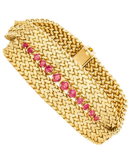 Tiffany & Co Metallic Ruby Gold Bracelet