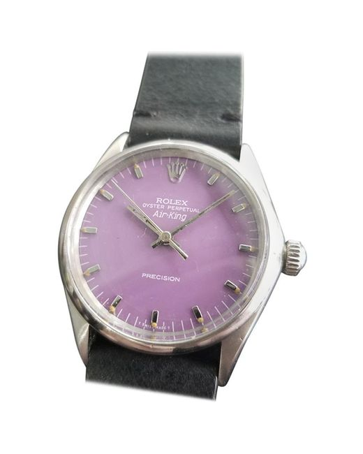 "Rolex Multicolor Mens Oyster Precision ""air-king"" Ref.1002 Automatic, Circa 1970s Ra115blk for men"