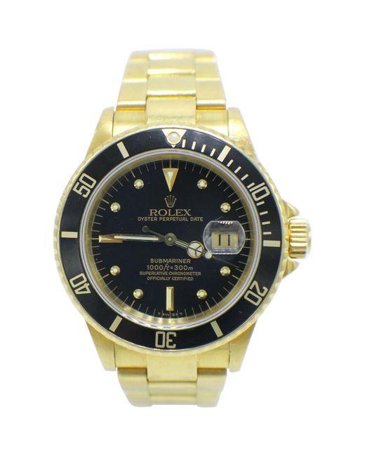 Rolex Yellow Submariner 16808 18 Karat Gold Black Gilt Nipple Dial Very Rare